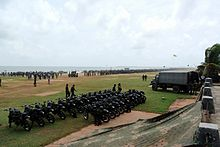 Military gathering on Galle Face Green