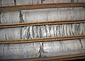 Millbrig Bentonite in limestone succession (Upper Ordovician, 454 Ma; Warren County core, Ohio, USA) 1.jpg