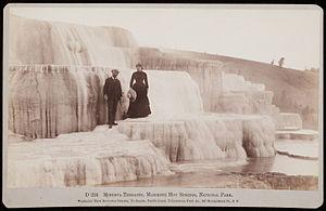 Carleton Watkins - Minerva Terraces, Mammoth Hot Springs, National Park, by Watkins
