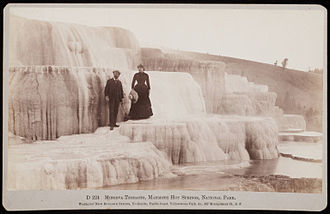 Carleton Watkins - Minerva Terraces, Mammoth Hot Springs, National Park, by Watkins