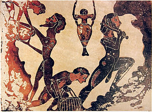Slavery in antiquity - Slaves working in a mine of Laurium