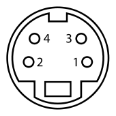 MiniDIN-4 Connector Pinout.svg