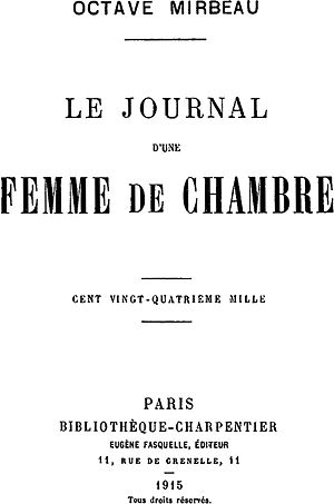 The Diary of a Chambermaid cover