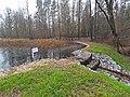 Mirostowcice Dolne. Zbiornik retencyjny (^) w lesie - panoramio.jpg