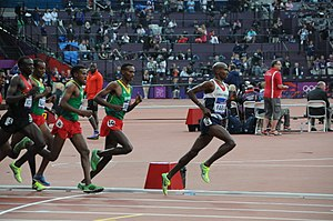 Athletics at the 2012 Summer Olympics – Men's 5000 metres - Image: Mo Farah (5000m Olympic Final)