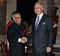 Mohammad Najib Abdul Razak meeting the President, Shri Pranab Mukherjee on the sidelines of the ASEAN-India Commemorative Summit, 2012, at Rashtrapati Bhavan, in New Delhi on December 20, 2012.jpg