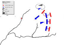 day 6 phase 2, showing khalid's two prong attack on Byzantine cavalry, and Muslim right wing flanking attack on Byzantine left center.