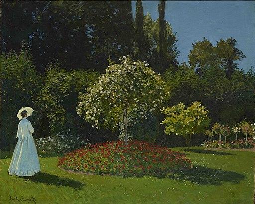 Monet-Lady in the Garden