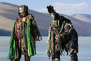 Picture was taken just before Mongolian Shaman ritual starts.
