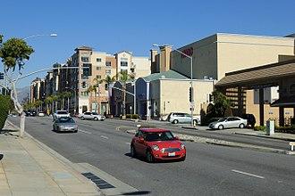 Monterey Park, California - A busy section of Atlantic Boulevard