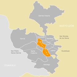 Map of Monterrey Metropolitan Area