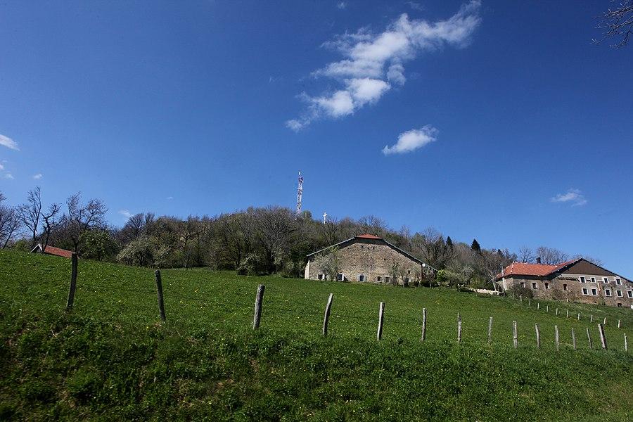 La butte de Montmahoux (Doubs).