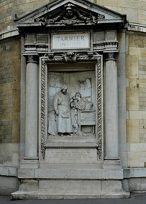 Étienne Stéphane Tarnier - Monument of Tarnier at the corner of Avenue de l'Observatoire and Rue d'Assas, Paris