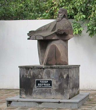 Ghazar Parpetsi - Monument to Ghazar Parpetsi in Parpi