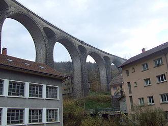 Canton of Morez - This railway bridge is the primary landmark of the town of Morez, the main town of the canton of the same name