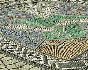 Neot - Mosaic in memory of St Neot