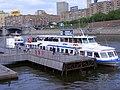 Moscow, type Moskva boats at Kievsky Terminal pier (42).jpg
