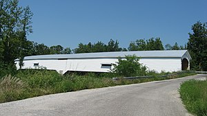 Orange Township, Rush County, Indiana - The Moscow Covered Bridge, a historic site in the township