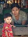 Mother and Daughter - Mrauk U (Myuhaung) - Arakan State - Myanmar (Burma) (12231800774).jpg