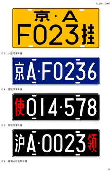 Vehicle registration plates of China
