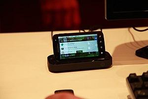 Motorola Atrix 4G - Motorola Atrix in its HD Multimedia dock