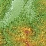 Mount Bukō Relief Map, SRTM-1.jpg