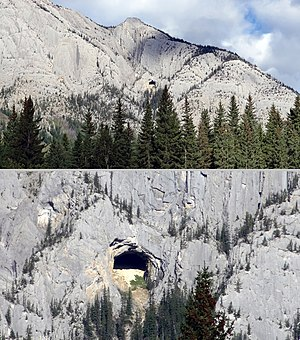 """Mount Cory (Alberta) - Mount Cory's """"Hole in the Wall"""""""