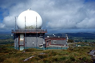 Mount Gabriel - A radar dome on the summit