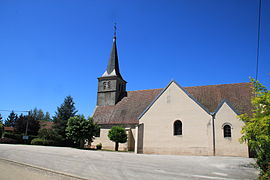 The church in Mouthier-en-Bresse