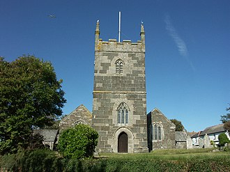 Mullion, Cornwall - Image: Mullion church st mellanus 001