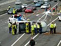Multi vehicle accident - M4 Motorway, Sydney, NSW (8076157829).jpg