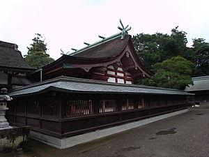 Sacred Island of Okinoshima and Associated Sites in the Munakata Region - Image: Munakata taisya honden