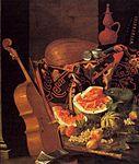 Munari, Cristoforo - Still-Life with Musical Instruments and Fruit - Galleria Palatina.jpg