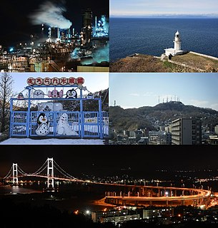 Muroran City in Hokkaido, Japan