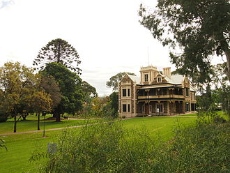 Alexander Borthwick Murray - Murray House and landscaped grounds, formerly 'Murray Park', now part of UniSA Magill Campus