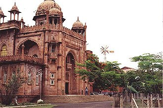 Architecture of Chennai - The Government Museum, Egmore, in the Indo-Saracenic style.