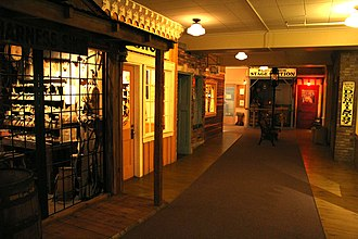 """Museum of Idaho - The """"Eagle Rock, USA"""" exhibit represents ten local businesses from the late 19th century."""