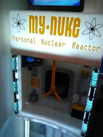 "Tim Hunkin - ""My Nuke"" arcade game at Novelty Automation"