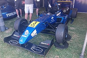 Simon Hodge - Hodge won the 2014 Australian Drivers' Championship driving a Team BRM-entered Mygale M11, similar to that pictured above