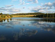 Lago de Erzgebirge, na Rep�blica Checa