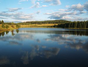 Ore Mountains - Image: Myslivny bozi dar lake