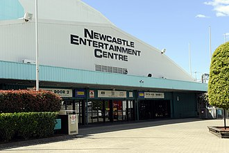 Newcastle Falcons (basketball) - The Newcastle Entertainment Centre, Home of the Falcons from 1992–1999