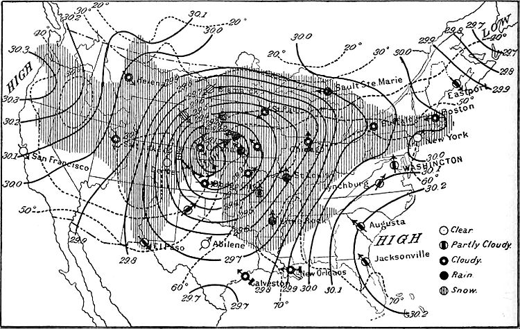 NIE 1905 Meteorology - weather map for April 4, 1892, 8 a.m.jpg