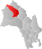 Locator map showing Ål within Buskerud