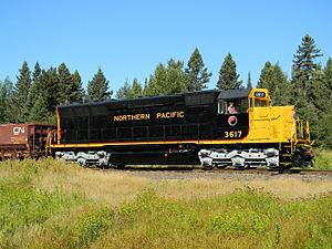 EMD SD45 -  NP 3617, a preserved SD45 in Minnesota