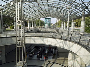 Westfalenhallen - Westfalenhallen station of Stadtbahn Dortmund