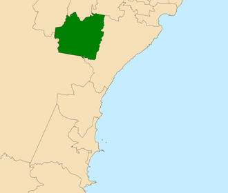 Electoral district of Campbelltown - Location within the Central Coast region