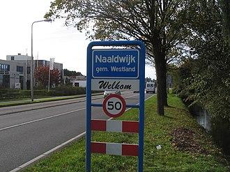 Naaldwijk - Image: Naaldwijk bord
