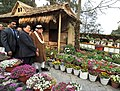 Narendra Modi visiting the orchid display and seasonal flowers exhibition, in Gangtok on January 18, 2016. The Chief Minister of Sikkim, Shri Pawan Kumar Chamling and other dignitaries are also seen.jpg