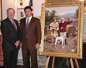Nathaniel Pryor e Sam Houston Painting del Senato dello Stato dell'Oklahoma